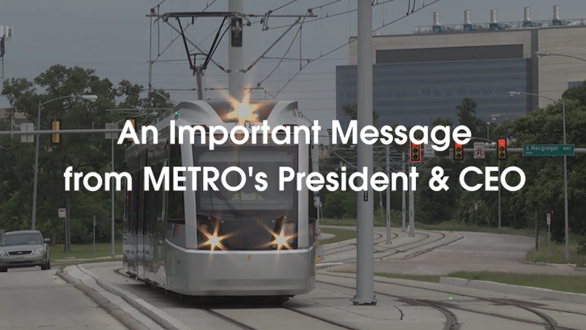 METRO Safety Message