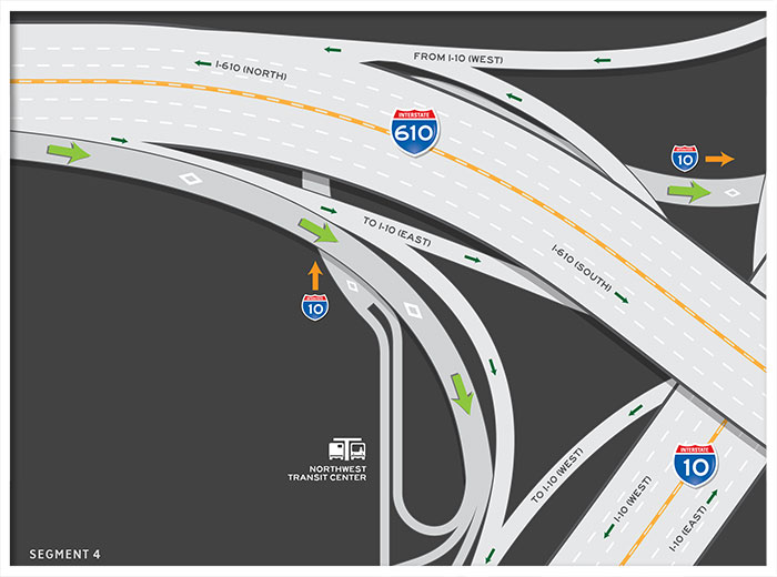US 290 HOV / HOT lane inbound map 4
