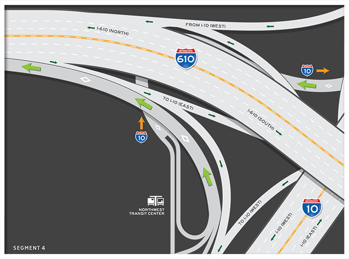 US 290 HOV / HOT lane outbound map 4