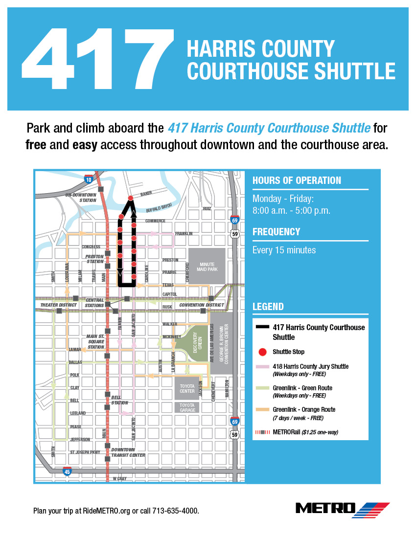417 Shuttle Bus Map