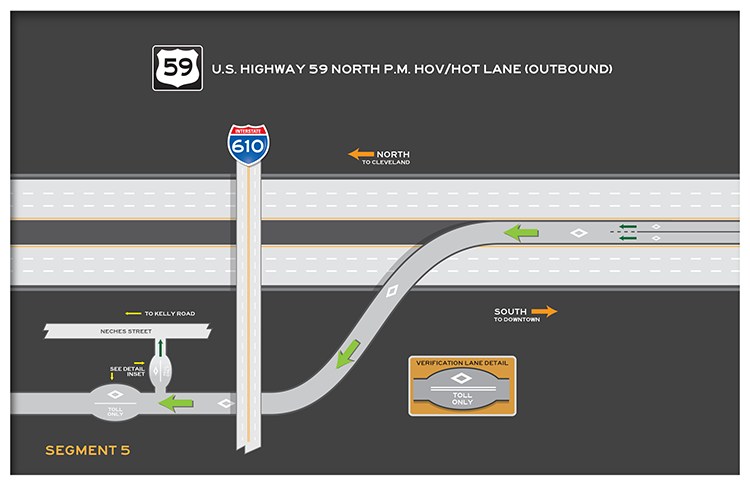 US 59 North outbound segment 6 map