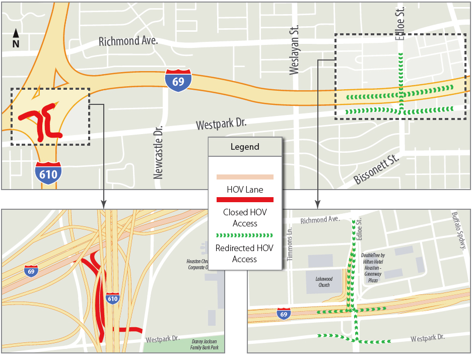 59/69 HOV Access Map Closure