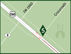 US 290 HOV lane access ramp map 5