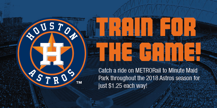 ride METRORail to Astros baseball games