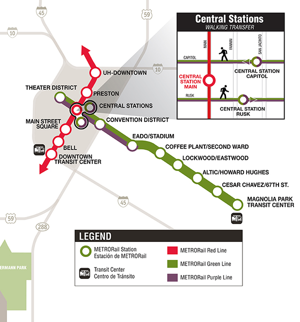 METRORail Green Line Map & Schedules