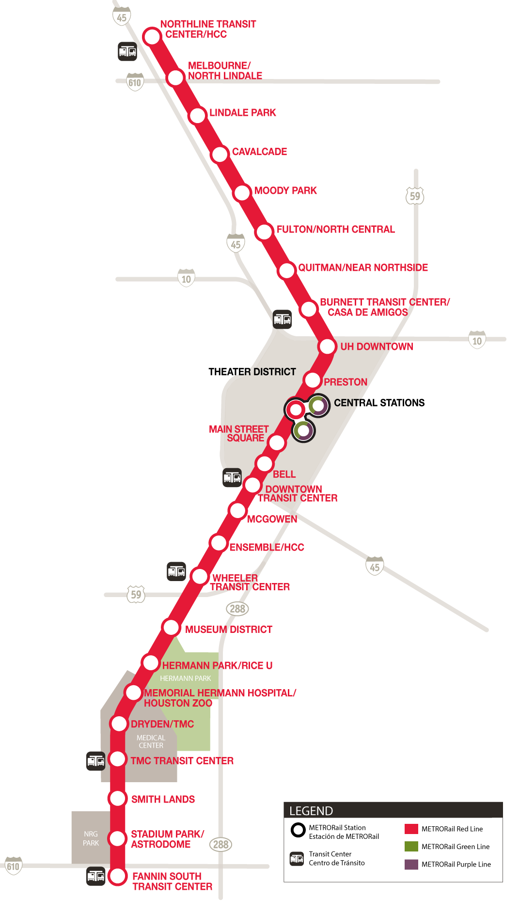 metrorail red line map schedules