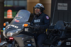 METRO Police officer on motorcycle