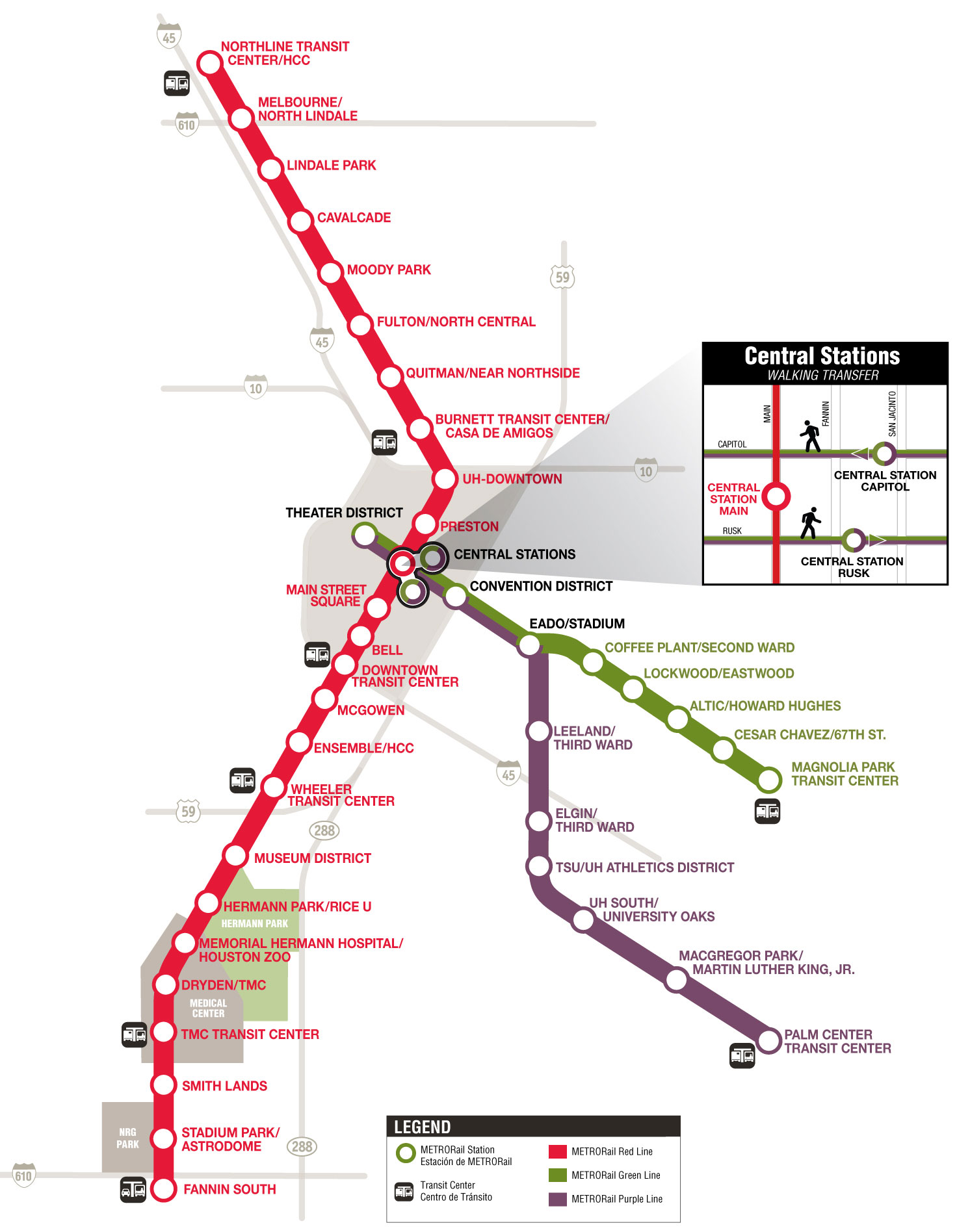 METRORail System Map Plan