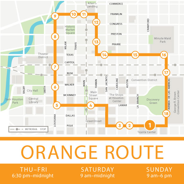 Orange route Map