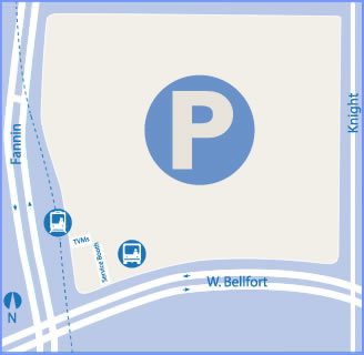Map of Fannin Parking