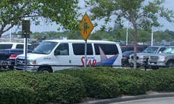 METRO STAR vanpool parked at park and ride location
